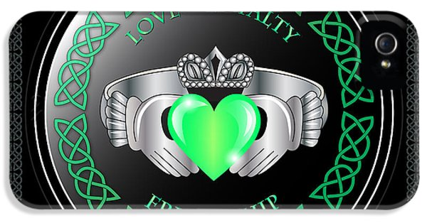 Irish iPhone 5 Cases - Claddagh Ring iPhone 5 Case by Ireland Calling