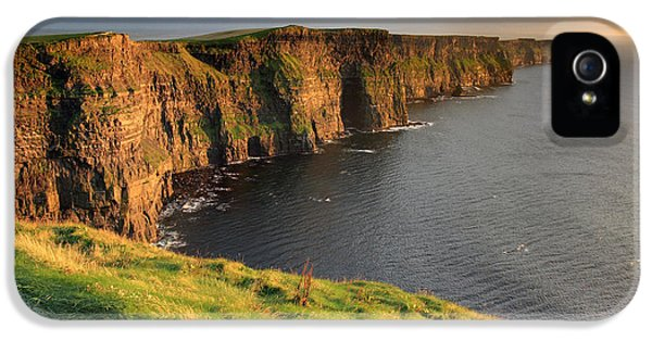 West iPhone 5 Cases - Cliffs of Moher sunset Ireland iPhone 5 Case by Pierre Leclerc Photography