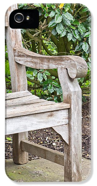 Arms iPhone 5 Cases - Garden bench iPhone 5 Case by Tom Gowanlock