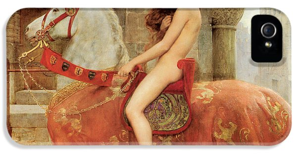 Lady iPhone 5 Cases - Lady Godiva iPhone 5 Case by John Collier