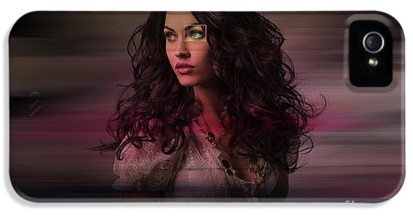 Fox iPhone 5 Cases - Megan Fox  iPhone 5 Case by Marvin Blaine