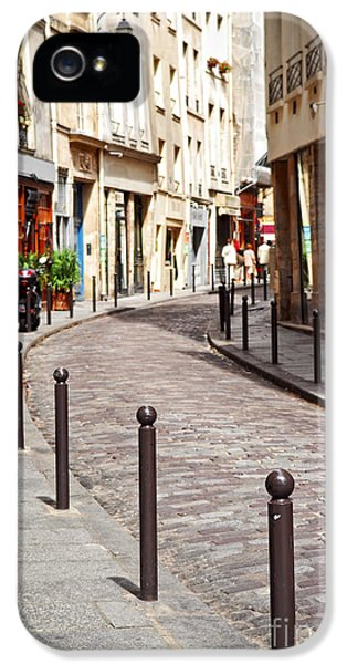 Stone iPhone 5 Cases - Paris street iPhone 5 Case by Elena Elisseeva