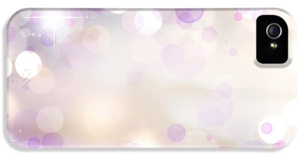 Soft iPhone 5 Cases - Pink background iPhone 5 Case by Les Cunliffe