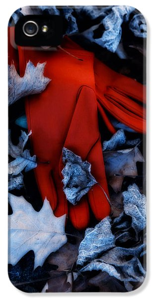 Glove iPhone 5 Cases - Red Gloves iPhone 5 Case by Joana Kruse