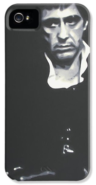 Brian De Palma iPhone 5 Cases - Scarface 2013 iPhone 5 Case by Luis Ludzska