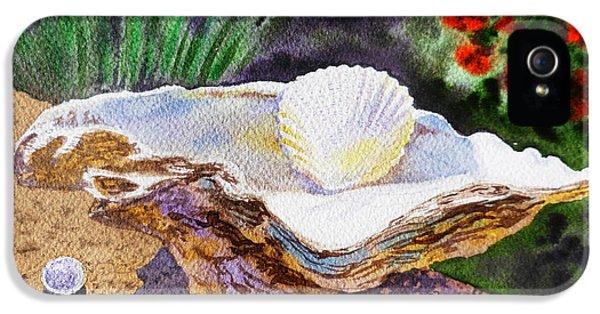 Shells iPhone 5 Cases - Sea Shell and Pearls Morning Light iPhone 5 Case by Irina Sztukowski