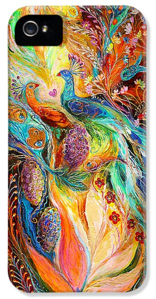 Modern Jewish iPhone 5 Cases - The Grapes of Holy Land iPhone 5 Case by Elena Kotliarker