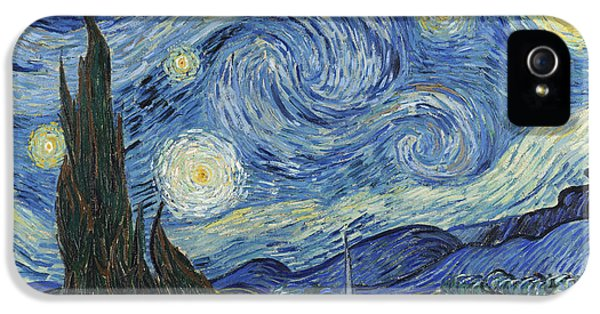 Evening iPhone 5 Cases - The Starry Night iPhone 5 Case by Vincent Van Gogh
