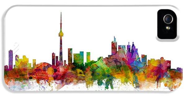 Toronto iPhone 5 Cases - Toronto Canada Skyline iPhone 5 Case by Michael Tompsett