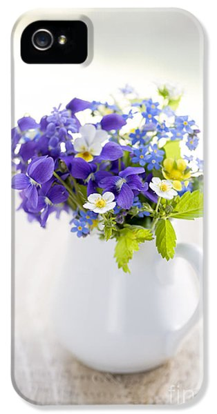 Forget Me Not iPhone 5 Cases - Wildflower bouquet iPhone 5 Case by Elena Elisseeva