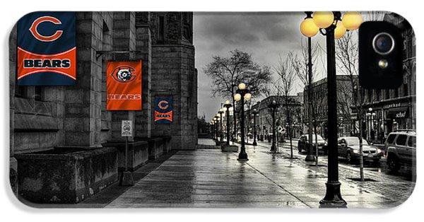 Main Street iPhone 5 Cases - Chicago Bears iPhone 5 Case by Joe Hamilton