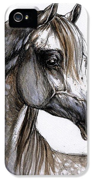Arab iPhone 5 Cases - Arabian Horse iPhone 5 Case by Angel  Tarantella