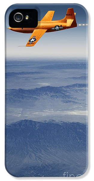 10 Bells iPhone 5 Cases - Bell X-1 Supersonic Aircraft iPhone 5 Case by Detlev van Ravenswaay