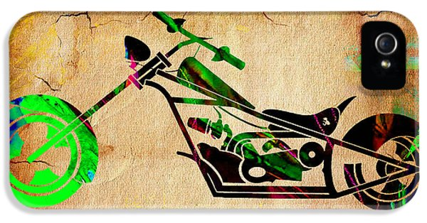 Chopper Motorcycle IPhone 5 / 5s Case by Marvin Blaine