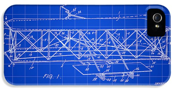 Control iPhone 5 Cases - Flying Machine Patent 1903 - Blue iPhone 5 Case by Stephen Younts