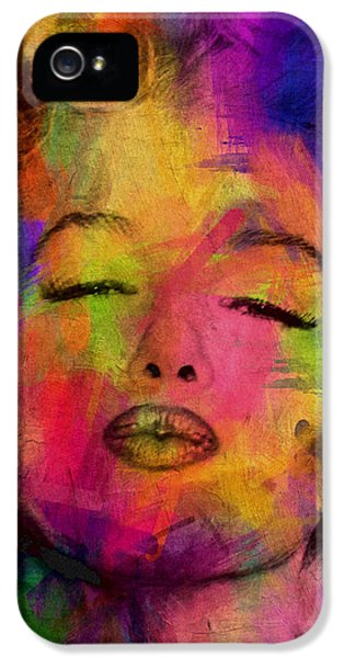 Famous People iPhone 5 Cases - Marilyn Monroe iPhone 5 Case by Mark Ashkenazi