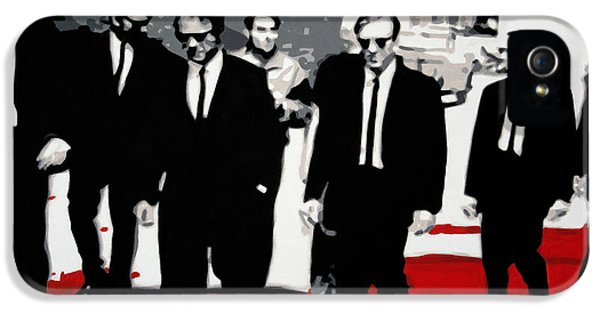 American Crime Film iPhone 5 Cases - Reservoir Dogs iPhone 5 Case by Luis Ludzska