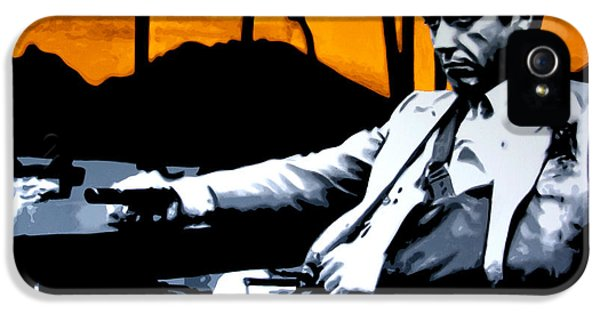 Oliver Stone iPhone 5 Cases - Scarface iPhone 5 Case by Luis Ludzska