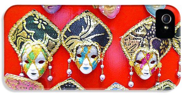 Masquerade iPhone 5 Cases - Venetian Masks  iPhone 5 Case by Irina Sztukowski