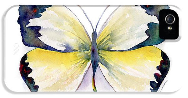 Mexican iPhone 5 Cases - 55 Mexican Yellow Butterfly iPhone 5 Case by Amy Kirkpatrick