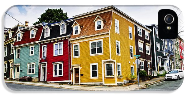 Newfoundland iPhone 5 Cases - Colorful houses in St. Johns Newfoundland iPhone 5 Case by Elena Elisseeva