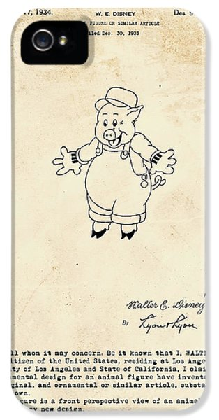 Disney Pig Patent IPhone 5 / 5s Case by Marlene Watson