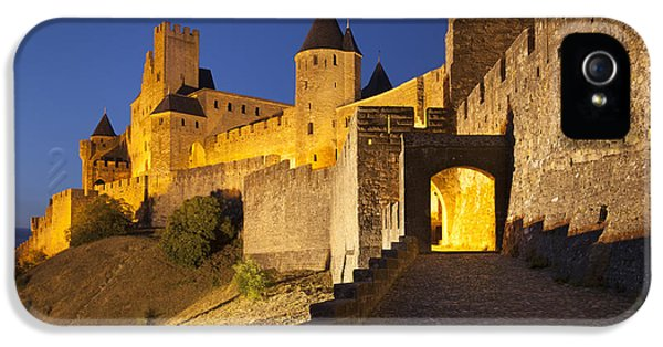 Castle iPhone 5 Cases - Medieval Carcassonne iPhone 5 Case by Brian Jannsen