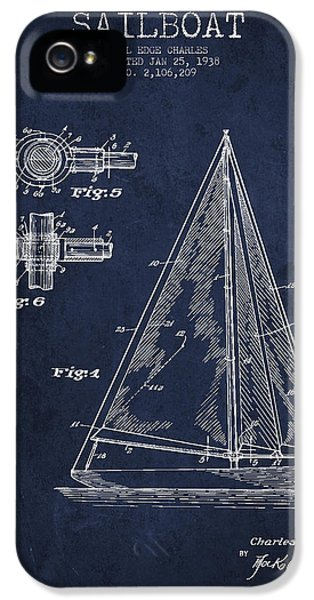 Diagram iPhone 5 Cases - Sailboat Patent Drawing From 1938 iPhone 5 Case by Aged Pixel