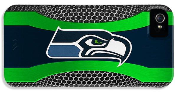 Sport iPhone 5 Cases - Seattle Seahawks iPhone 5 Case by Joe Hamilton