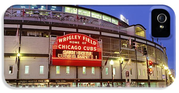 Wrigley Field iPhone 5 Cases - Usa, Illinois, Chicago, Cubs, Baseball iPhone 5 Case by Panoramic Images