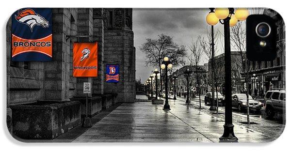 Main Street iPhone 5 Cases - Denver Broncos iPhone 5 Case by Joe Hamilton
