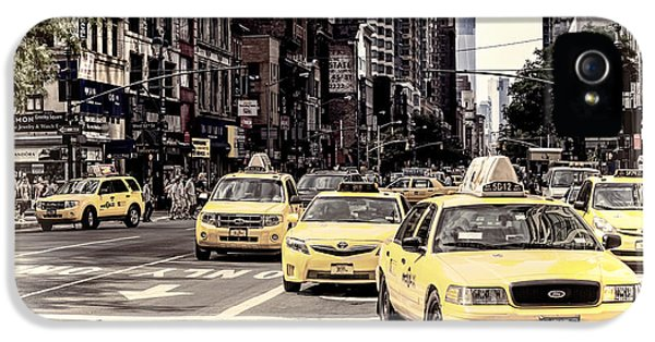 The Americas iPhone 5 Cases - 6th Avenue NYC Yellow Cabs iPhone 5 Case by Melanie Viola