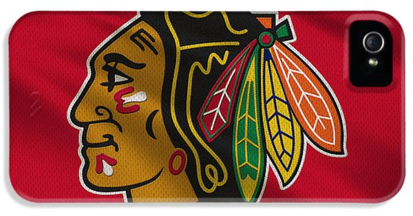 Chicago Blackhawks Uniform IPhone 5 / 5s Case by Joe Hamilton