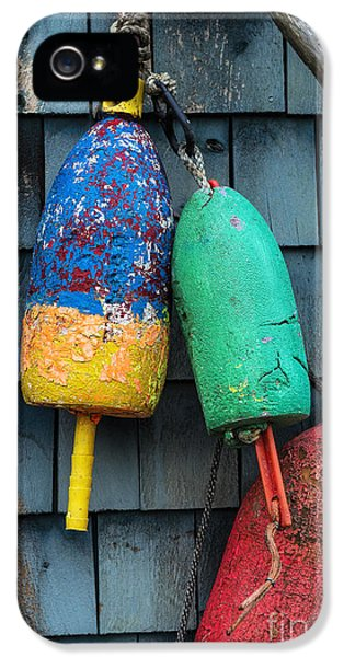 Shanty iPhone 5 Cases - Lobster Buoys iPhone 5 Case by John Greim