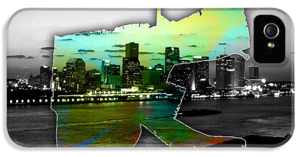 New Orleans Map And Skyline Watercolor IPhone 5 / 5s Case by Marvin Blaine