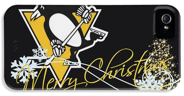 Stick iPhone 5 Cases - Pittsburgh Penguins iPhone 5 Case by Joe Hamilton