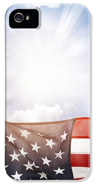 Independence Day iPhone 5 Cases - American flag iPhone 5 Case by Les Cunliffe
