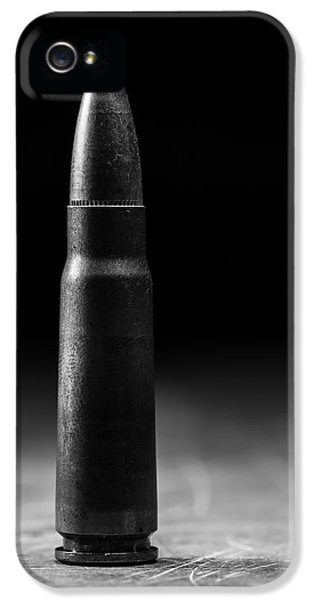Prepper iPhone 5 Cases - 7.62 x 39mm Black and White iPhone 5 Case by Andrew Pacheco
