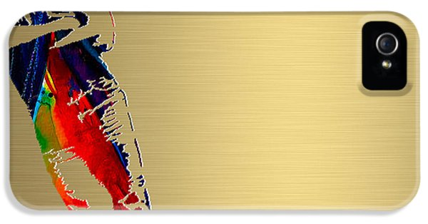 Born To Run iPhone 5 Cases - Bruce Springsteen Gold Series iPhone 5 Case by Marvin Blaine