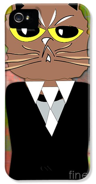 Cool Cat IPhone 5 / 5s Case by Marvin Blaine