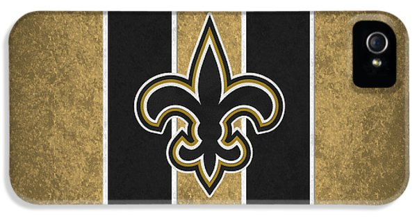 Padded iPhone 5 Cases - New Orleans Saints iPhone 5 Case by Joe Hamilton
