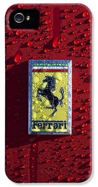 Automotive iPhone 5 Cases - Ferrari Emblem iPhone 5 Case by Jill Reger