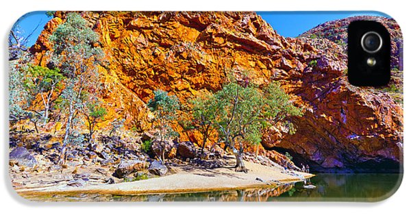 Mcdonnell iPhone 5 Cases - Ormiston Gorge iPhone 5 Case by Bill  Robinson