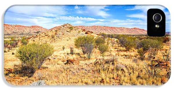 Mcdonnell iPhone 5 Cases - West McDonnell Ranges Larapinta Drive iPhone 5 Case by Bill  Robinson
