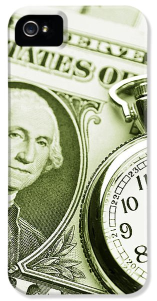 Credit iPhone 5 Cases - Time is money iPhone 5 Case by Les Cunliffe
