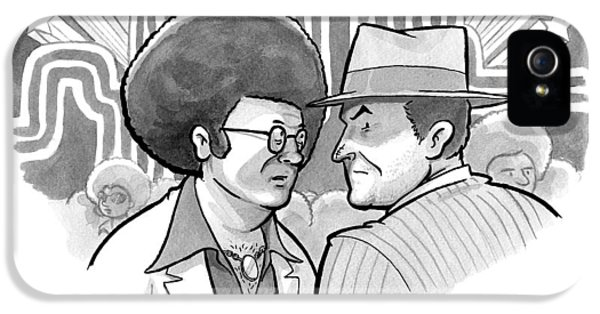 A 70's Disco Man Speaks To Jack Nicholson's IPhone 5 / 5s Case by Benjamin Schwartz