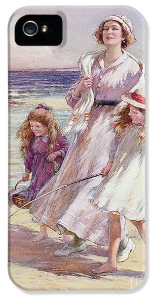 Charming iPhone 5 Cases - A Breezy Day at the Seaside iPhone 5 Case by William Kay Blacklock