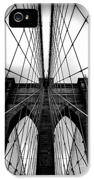 Cable iPhone 5 Cases - A Brooklyn Perspective iPhone 5 Case by Az Jackson