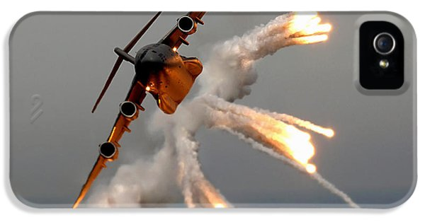 Strategic iPhone 5 Cases - A C-17 Globemaster Iii Releases Flares iPhone 5 Case by Stocktrek Images