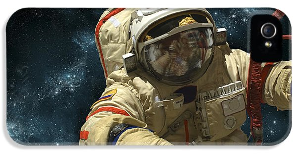 A Cosmonaut Against A Background IPhone 5 / 5s Case by Marc Ward